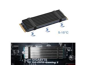 M.2 SSD Cooler Heatsinks, NVMe Aluminum Heatsinks for M.2 2280mm SSD with 2 Silicone Thermal Pads, Black