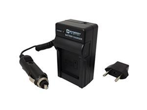 Samsung HMX-H205 Camcorder Battery Charger (110/220v with Car & EU adapters) - Replacement Charger for Samsung IA-BP210E Battery -