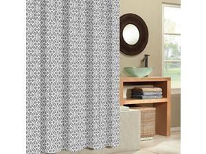 EXCELL Tiles Fabric Shower Curtain, 70 by 72-Inch