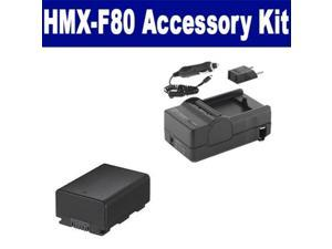 Samsung HMX-F80 Camcorder Accessory Kit includes: SDIABP210E Battery, SDM-1524 Charger