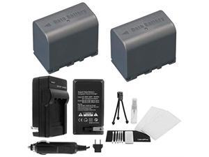 2-Pack BN-VF823 High-Capacity Replacement Batteries with Rapid Travel Charger for Select JVC Camcorders. UltraPro Bundle Includes: Camera Cleaning Kit, Screen Protector, Mini Travel Tripod