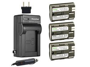 Kastar Battery (3-Pack) and Charger for Canon BP-511, BP-511A, BP511, BP511A and EOS 5D, 10D, 20D, 30D, 40D, 50D, Digital Rebel 1D, D60, 300D, D30, Kiss Powershot G5, Pro 1, G2, G3, G6, G1, Pro90 etc