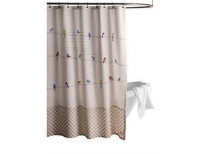 "Maison d' Hermine Birdies On Wire 100% Cotton Shower Curtain with 12 Button Holes (72""X72"")"