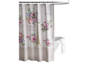 Maison d' Hermine Champ De Mars 100% Plain Wave Cotton Shower Curtain with 12 Button Holes for Easy Hanging Machine Washable for Spa   Hotel Luxury   Bathroom (72 Inch X72 Inch)