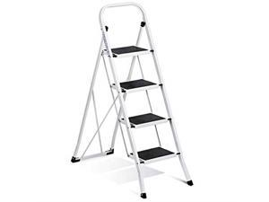 ACSTEP 4 Step Ladder Step Stool Folding with Handgrip, Portable Folding Step Ladder 4 Step with Anti-Slip and Wide Pedal Hold up 300lbs