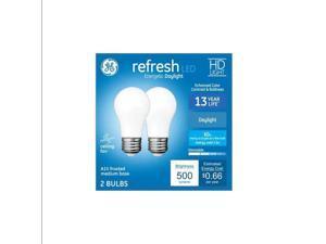 GE refresh LED 60 watt equivalent A15 Daylight Dimmable LED Light Bulb (2 pack)