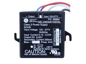 GE CURRENT GELD6DMV350SL LED Driver,120-277 V,6 W,2-20 V