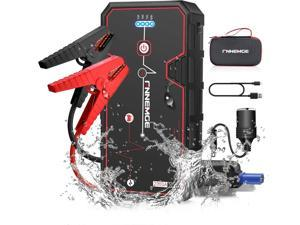 FNNEMGE Car Jump Starter 2000A Peak 21800mAh 12V Super Safe Jump Starter(Up to 8.0L Gas or 6.5L Diesel Engine), with USB Quick Charge 3.0 Pack Type-C Portable Phone Charger