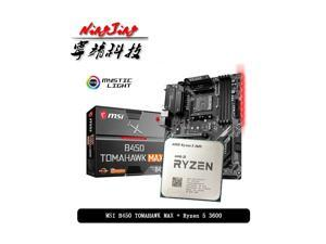 AMD Ryzen 5 3600 R5 3600 CPU + MSI B450 TOMAHAWK MAX Motherboard Suit Socket AM4 All new but without cooler