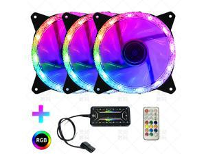 Flash Diamond 120mm RGB LED Fan, Triple Pack with Lighting Node CORE