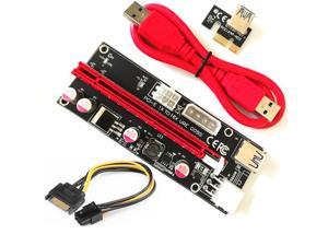 PCI-E Riser For Bitcoin/Litecoin/ETH Coin PCEI64P-N03 009S 1X to 16X With USB 3.0 Extension Cable - 2 Packs
