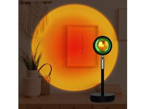 Sunset Lamp Projection Led Light,180 Degree Rotation Sunset Projection Lamp, Night Light Projector Led Lamp, Romantic Projector for Home Bedroom Coffee Shop Background Wall Decoration