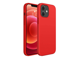Shockproof Compatible for iPhone 12 Case, iPhone 12 Pro Case, 6.1 Inch Full Body Silicone Gel Rubber Protective Case with Soft Anti-Scratch Microfiber Lining