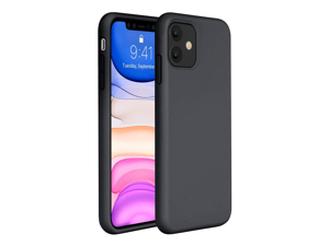 Compatible for iPhone 11 Case, Cover 6.1 Inch (2019) Full Body Silicone Gel Rubber Protective Shockproof Case with Soft Anti-Scratch Microfiber Lining