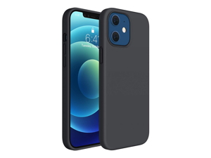 Compatible for iPhone 12 Mini Case, Cover 5.4 Inch Full Body Silicone Gel Rubber Protective Shockproof Case with Soft Anti-Scratch Microfiber Lining