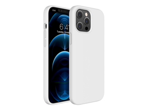 Compatible for iPhone 12 Pro Max Case, 6.7 Inch Full Body Protection, Silicone Gel Rubber Protective Shockproof Case with Soft Anti-Scratch Microfiber Lining