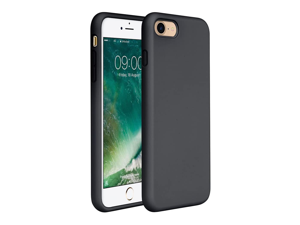 Compatible for iPhone SE 2020 Case, iPhone 8, iPhone 7, Cover 4.7 Inch, Full Body Silicone Gel Rubber Protective Shockproof Case with Soft Anti-Scratch Microfiber Lining