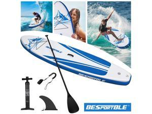 """BESPORTBLE Inflatable Paddle Board, 118"""" X 28.7""""X 6"""" Stand Up Paddle Board with Carry Bag & Paddleboard Accessories for Youth & Adult"""