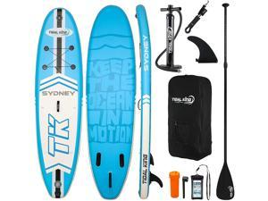 """Tidal King Sydney 10' x 31"""" x 6"""" ISUP Stand Up Paddle Board Ideal for Beginners - Paddle, Backpack, Pump, Leash, Phone Case & 2 Year Warranty(Blue, SUP)"""