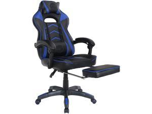 KT20 Gaming Chair Racing Style Chair Video Game Chair with Retractable Footrest Office Chair Computer Chair Ergonomic Recliner Headrest Lumbar-E-sports Chair for Adults & Seniors