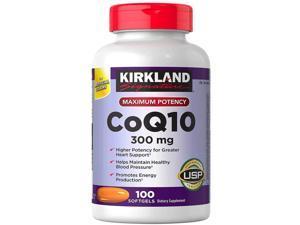 Kirkland Signature Maximum Potency CoQ10 300 mg 100 Softgels Each (Pack of 1)
