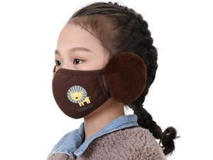 Unisex   Warm Plush Face Mask With Earmuffs Reusable Washable Breathable For Kids  Adult