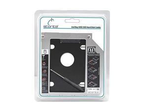 """Universal 2.5"""" 9.5mm 2nd Caddy IDE Box Bay SATA HDD SSD to PATA CD DVD RW BD Blu Ray ROM ODD Tray Adapter Laptop Hard Disk Drive for ASUS ACER Toshiba Samsung"""