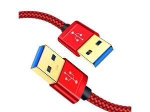 USB 30 A to A Male Cable  USB to USB Cable 2 Pack33ft+66ft USB Male to Male Cable Double End USB Cord with GoldPlated Connector for Hard Drive Enclosures DVD Player Laptop Cooler Red