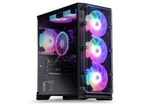 MXZ Gaming Desktop PC Computer 11th Gen I3 10105F, GTX1650 Super, B460M, 8GB2(16GB) DDR4, NVME M2 500GB SSD, 6 RBG Fans, Windows 10 Pro& WiFi Ready to use (I3  GTX1650 Super)