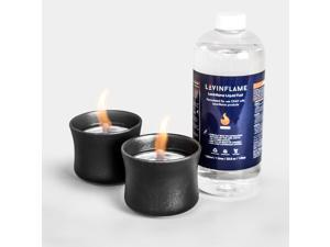 LOVINFLAME Pearl Ceramic Candle with Ethanol-Free Fuel | Minimizes Risks of Flare-ups, Clean-Burning, Wind-Resistant, Indoor and Outdoor Fire Bowl, Portable Tabletop Fireplace (Classic, Black)