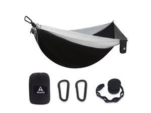 Aodoer Camping Hammock - Travel Hammock with 2 Tree Straps, Single Hammock, Durable Nylon Parachute Portable Hammock for Outdoor, Hiking, Backpacking, Yard
