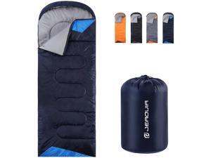 JEAOUIA Sleeping Bags for Adults Backpacking Lightweight Waterproof- Cold Weather Sleeping Bag for Girls Boys Mens for Warm Camping Hiking Outdoor Travel Hunting with Compression Bags