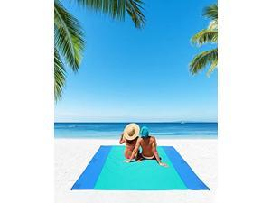 """JEAOUIA Beach Mat Sandproof for Beach Accessories (94"""" x 110"""") Extra Large for Adults & Kids Beach Mat Waterproof and Quick-Dry for Outside Vacation Travel Camping Hiking and Picnic"""