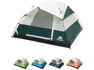 Camping Tent 4 Person - Family Dome Waterproof Backpack Tents with Top Rainfly, Ultralight Easy Set Up Small Tents with Carry Bag for 4 Season Hiking Glamping Beach Outdoor