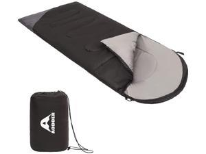 AODOER Sleeping Bag - Sleeping Bag for Adults with Compression Sake - 3 Season Waterproof Camping Sleeping Bags - Portable and Lightweight - Backpack Sleeping Bag Black