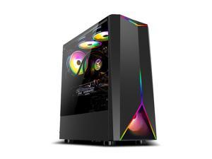 IPASON - T03 - Gaming desktop - AMD Ryzen 5 2600 6 core (up to 3.9GHz)  - GTX 1650 4GB GDDR6 - 8GB DDR4 2666MHz - B450M MB - 550W 80Plus PSU - RGB FANS - Windows 10 home - Gaming PC