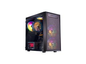 IPASON - Gaming Desktop - A8 9600 (4 Core up to 3.4GHz ) - AMD Radeon R7 - 240GB SSD - 8GB 2666MHz - 550W 80 PLUS PSU - Windows 10 home - RGB Fans - Gaming PC