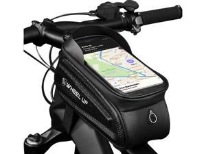 Bike Phone Bag with Touch Screen Bicycle Waterproof Front Frame Bag Bike Handlebar Storage Bag,Outdoor Riding Cycling Accessories, Large Capacity