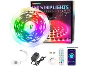 25FT/7.5M Bluetooth LED Strip Lights,RGB 5050 Smart Led Light with APP Control,Computer Case Led Light Strips Compatible with Alexa,Google Assistant,for Home Decor, Bedroom,TV Light,Party,Christmas