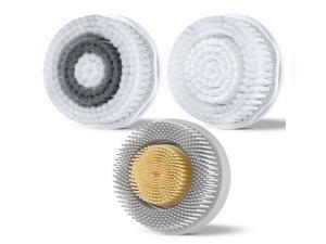 ETEREAUTY 3pcs E010108 Electric Facial Cleansing Brush Heads Replacement Skin Care Massage Brush Heads