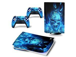 For ps5 sticker shell, console skin sticker, suitable for the drag and drop of the Play Station console and joystick/controller into one(The label defaults to the CD-ROM version)