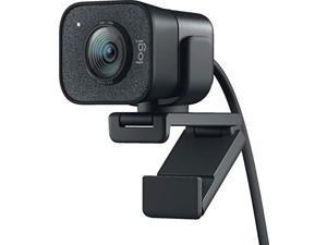 logitech streamcam plus webcam with tripod (graphite) (renewed)