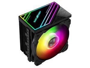 abkoncore ct408 cpu cooler, 120mm silent pwm fan, 4 continuous direct contact heat pipes, auto rgb spectrum led cpu fan, auto rgb cpu air cooler, intel lga1151/1200, amd am4/ryzen