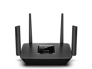 linksys ac3000 smart mesh wi-fi router for home networks, mu-mimo tri-band wireless gigabit mesh router, fast speeds of up to 3.0 gbps, coverage of up to 3,000 sq ft, up to 25 devi