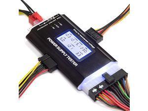 kingwin pc computer power supply tester, digital lcd screen, atx/itx/ide/hdd/sata/byi (kpst-01)