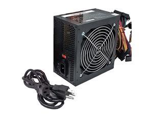 stability 750-watt black gaming pc 120mm cooling fan 4-sata, atx 4pin/8pin 12v, dual 6+2pin connector (for pcie video) power supply, psu complete with 5-foot ac power cord, screws,