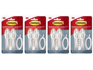 command cord bundlers, cord organizer, 2-bundlers per pack, sold as 4-packs