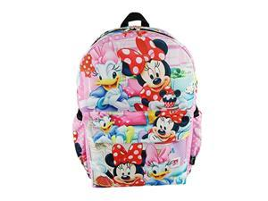 """minnie mouse deluxe oversize print large 16"""" backpack with laptop compartment - a19750"""