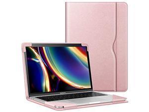 fintie sleeve case for macbook air 13 a2237 (m1)/a2179/a1932 (2018-2020), compatible w/ macbook pro 13 a2338 (m1)/a2251/a2289/a2159/a1989/a1706/a1708 (2016-2020), pu leather folio