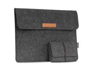 """moko 13-13.3 inch laptop sleeve case fits macbook air 13-inch retina, macbook pro 13"""", ipad pro 12.9 2021/2020/2018, samsung notebook 9 13.3"""" computer with small felt accessory bag"""